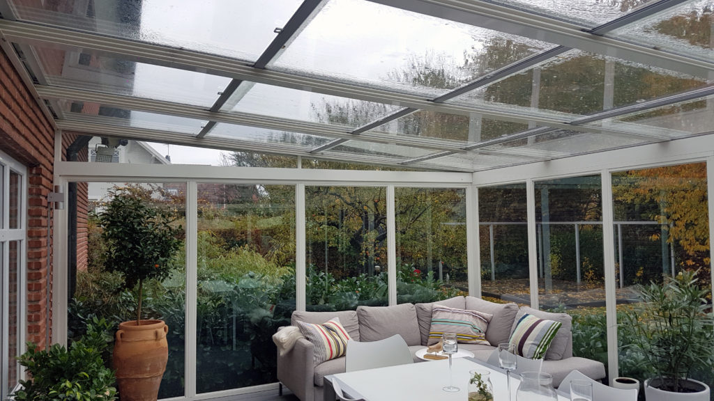 References glass roofs from bentech for Conservatory sliding doors